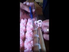 """loom board pom pom blanket part 5 [ """"loom board pom pom blanket part """"loom b. loom board pom pom blanket part 5 [ """"loom board pom pom blanket part """"loom board pom pom Loom Knitting Stitches, Knifty Knitter, Loom Knitting Projects, Yarn Projects, Pom Pom Crafts, Yarn Crafts, Sewing Crafts, Pom Pom Rug, Pom Poms"""