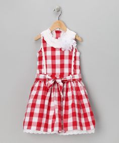 Red Gingham Princess A-Line Dress - Toddler & Girls | Daily deals for moms, babies and kids