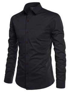Admiral Pocket Slim Fit Dress Shirt 670836d211003