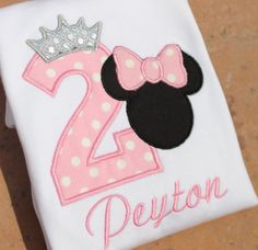 Princess Minnie Mouse Personalized Birthday by ButuzaBabyDesigns, $24.95