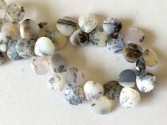 Dendrite Opal Beads Dendrite Opal Faceted Heart by gemsforjewels