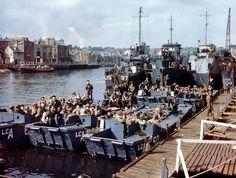 Embarquement sur les navires, début juin 1944 - Opération Overlord