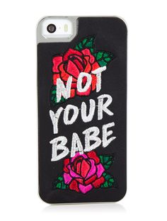 lowest price 4216c bf42d iPhone SE 5 5S Not Your Babe Case