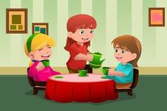 Buy Girls having a Tea Party by artisticco on GraphicRiver. A vector illustration of cute girls having a tea party together. Vector illustration, zip archive contain eps 10 and . Free Android Games, Free Games, House Illustration, Cute Drawings, Tea Party, Cute Girls, Clip Art, Graphic Design, Cartoon