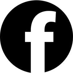 Facebook logo in circular shape free icon