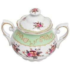 The sugar bowl to match the cake stand - I'm in love with this pattern!