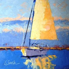 Sail Away, painting by artist Leslie Saeta