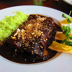 Mole Enchilada @ Cafe Pasqual's - Santa Fe, New Mexico