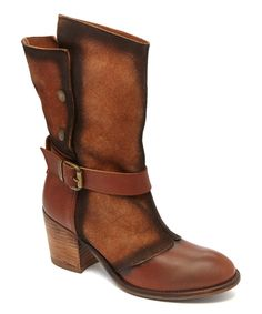 Look at this Mocha Panel Leather Boot on #zulily today!