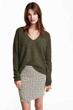 Camisola de decote em V | H&M