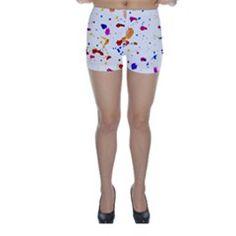 Multicolor Splatter Abstract Print Skinny Shorts by dflcprintsclothing Skinny Shorts, Abstract Print, Design, Fashion, Moda, Fashion Styles, Fashion Illustrations