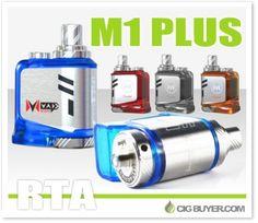 Mvape M1 Plus RTA Tank – $24.19: http://www.cigbuyer.com/mvape-m1-plus-rta-tank/ #ecigs #vaping #mvape #rta #atomizer #vapelife #vapedeals