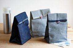 Sacos de jeans e brim para lanches e outras utilidades | Arte com Tecidos