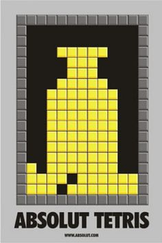 #Absolut_Vodka_tetris