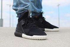 designer fashion 8ee63 e7529 Adidas Tubular X Knit Core Black (noire) Baskets, Adidas Shoes Outlet, Vans