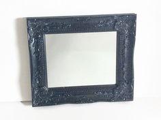 Ornate Black Mirror Victorian Gothic Black by LetaPearlEmporium