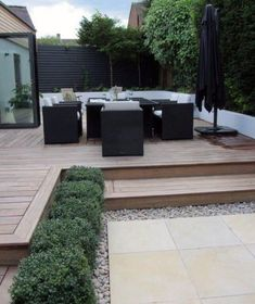27 Cozy Small Backyard Deck Designs is part of Sloped garden - Take a close look at these beautiful pictures, you will find yourself analyzing which of these small backyard deck designs would suit you best Small Backyard Decks, Backyard Patio, Backyard Landscaping, Pergola Garden, Pergola Kits, Pergola Roof, Pergola Ideas, Small Garden With Decking Ideas, Small Patio