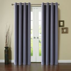 Blackout Window Curtain Panel Grommet Top Drapes 2 Panel Set Room Darkening Thermal Insulated Blackout Window Treatments/Drapes for Bedroom (52X84inch,Dark Grey) ** You can find out more details at the link of the image. (This is an affiliate link) #WindowTreatments