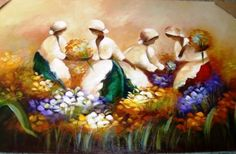 pintura em tela floristas - Pesquisa Google