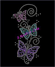 Butterflies Rhinestone Shirt, Butterflies Bling Shirt, Butterflies Rhinestone Tshirt, Butterflies Bling Tshirt, Butterfly Shirt by on Etsy Rhinestone Tshirts, Rhinestone Crafts, Bling Shirts, Motifs Perler, Butterfly Shirts, String Art Patterns, Dot Art Painting, Mandala Dots, Pattern Art