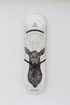 Cervidae skate deck designed by Peter Carrington for SOVRN TheDailyBoard.tumblr.com | With Great Ideas, Comes Great Skateboards