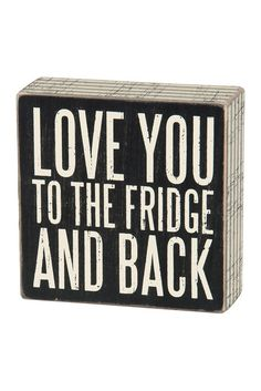 True Love. Fridge & Back Box Sign.