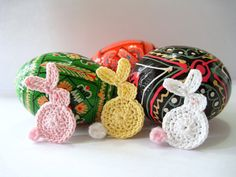 Crocheted Easter Bunny Appliques