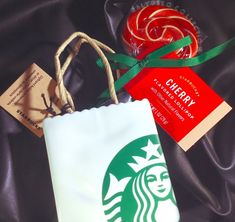 Starbucks Holiday 2018 Ceramic Tote ORNAMENT & CHERRY Lollipop - Limited Edition #StarbucksCoffee Starbucks Valentines, Starbucks Christmas, Starbucks Gift Card, Starbucks Tumbler, Starbucks Coffee, Starbucks Reserve, Candy Skulls, Christmas Tree
