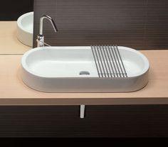 Terrazzo Waschbecken Icar | bad | Pinterest | Waschbecken, Rund ... | {Waschbecken rund einbau 90}