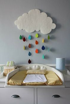cloud mobile. also love the perpendicular changing table.