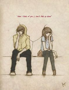 Anime/Manga drawing with Owl City lyrics. :3