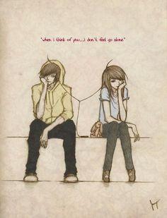 Anime/Manga drawing with Owl City lyrics. :3