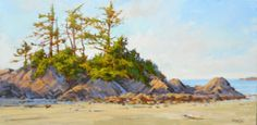 Tofino Morning, acrylic I really think it is important to have a feel for what it is you are painting. Coastal Paint, Amanda Jones, Watercolor Landscape Paintings, Vancouver Island, Community Art, Feelings, Outdoor, Artists, Ideas