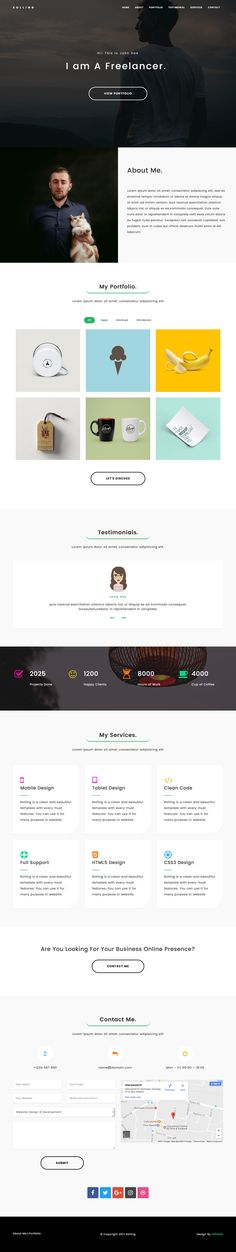 426 best One Page Website Templates images on Pinterest in 2018 ...