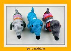 Lots of free gorgeous Amigurumi patterns :) Crochet Toys Patterns, Amigurumi Patterns, Stuffed Toys Patterns, Knitting Patterns, Crochet Bear, Cute Crochet, Crochet Animals, Crafts To Make, Diy Crafts