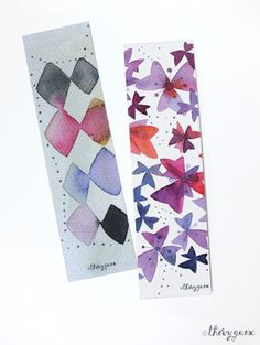 le blog de Thévy!: Nouveaux marque-pages *** New bookmarks #thevyguex #watercolor #bookmarks #stationery #cutestationery #paris #waterpaint #waterartist