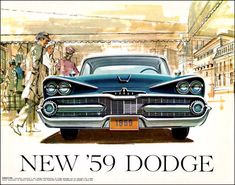 1959 Dodge auto poster