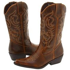 """cowgirl boots <3 Going to write """"ANDY"""" on the sole of one of the shoes :)"""