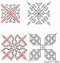 kasuti patterns 1 | Sarah's Hand Embroidery Tutorials