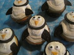 creative cupcakes designs oreo penguins birds owls muffins bake backen vögel eulen pinguin eule tiere animals