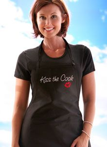 kiss the cook apron