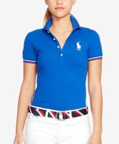 Polo Ralph Lauren Team USA Skinny Stretch Polo Shirt