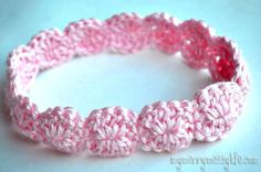 crochet flower headbands free patterns   Crochet Shell Headband {free crochet pattern}