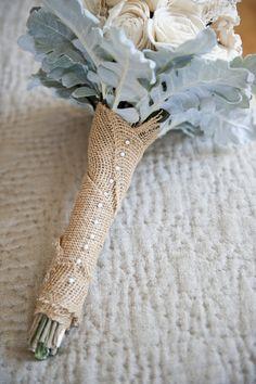 Burlap bouquet wraps