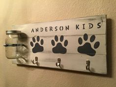 A personal favorite from my Etsy shop https://www.etsy.com/listing/253972146/large-dog-treat-holder-dog-leash-holder