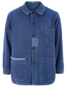 Priestleys Vintage Mens Vintage Worker Indigo Jacket