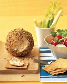 A perfect snack to serve at holiday gatherings, this pecan-coated cheese ball is a party favorite. Serve it with raw vegetables and crisp crackers.