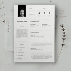 Clean, Modern and Professional Resume and Letterhead design. Fully customizable easy to use and replace color & text. Give an employer a great first impression and help you land your dream job. Best Resume Template, Resume Design Template, Creative Resume Templates, Cv Template, Resume Layout, Job Resume, Web Design, Book Design, Mise En Page Portfolio