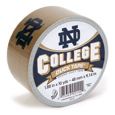 Notre Dame College Duck Tape® brand duct tape. Learn more at http://duckbrand.com/products/duck-tape/licensed/college-duck-tape/notre-dame-188-in-x-10-yd?utm_campaign=college-duck-tape-general&utm_medium=social&utm_source=pinterest.com&utm_content=college-duck-tape