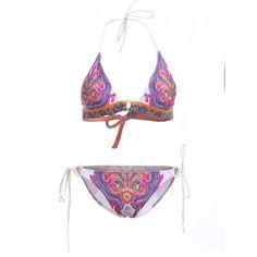 Elegant Women's Halter Neck Tribal Print Bikini Set #men, #hats, #watches, #belts, #fashion, #style
